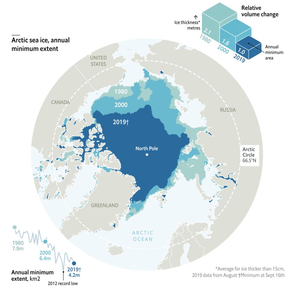 Przykład efektywnej wizualizacji 3D magazynu The Economist